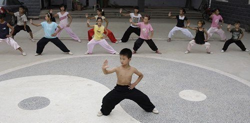 Tai Chi Kids in China